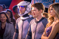 Gavin Free as Woody, Michael Jones as Zach and Allie DeBerry as Mindy in