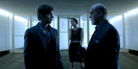 Chad McKnight as Jim Beale, Brianne Davis as Abby and Michael Ironside as Klaus Meisner in