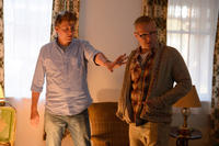 Director Jeff Nichols and Joel Edgerton on the set of
