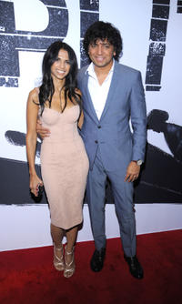 M. Night Shyamalan and Bhavna Vaswani at the New York premiere of 'Split'