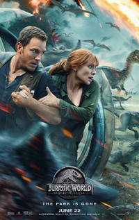 Jurassic World: Fallen Kingdom poster art