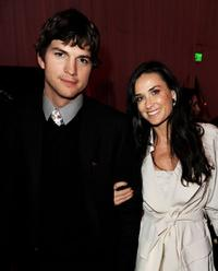 Ashton Kutcher and Demi Moore at the after party of the California premiere of