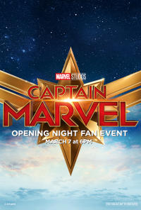 Captain Marvel Opening Night Fan Event poster art