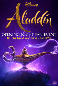 Aladdin Opening Night Fan Event poster art