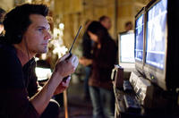 Director Len Wiseman on the set of