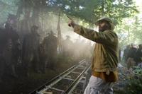Director Marcus Nispel on the set of