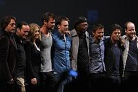 The cast of 'The Avengers' at Comic-Con 2010.