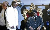 Derek Luke as Sean Combs and Jamal Woolard in