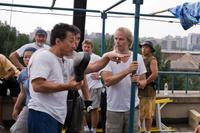 Jackie Chan and director Harald Zwart on the set of