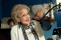 Betty White on the set of