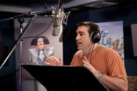 Rob Riggle on the set of