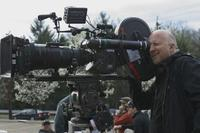 Director John Hillcoat on the set of