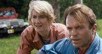 Laura Dern and Sam Neill in