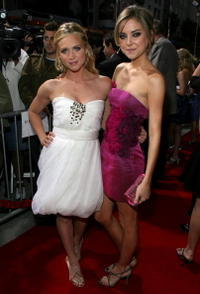 Actresses Brittany Snow and Jessica Stroup at the L.A. premiere of