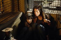 Matthew Knight and Rhona Mitra in