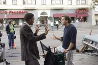 Will Smith and director Gabriele Muccino on the set of