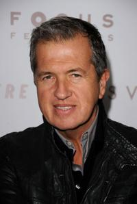Designer Mario Testino at the California premiere of