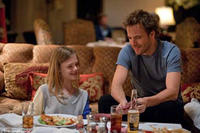 Elle Fanning as Cleo and Stephen Dorff as Johnny Marco in