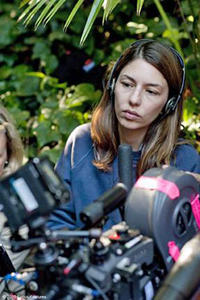 Filmmaker Sofia Coppola on the set of