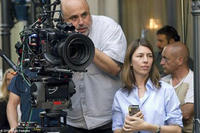 Cinematographer Harris Savides and filmmaker Sofia Coppola on the set of