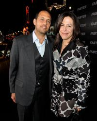 Producer Robert Teitel and  Amy Baer at the California premiere of