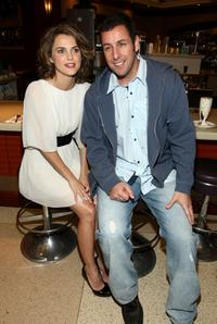 Keri Russell and Adam Sandler at the California premiere of