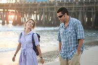 Keri Russell and Adam Sandler in