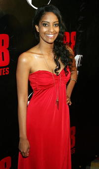 Actress Azie Tesfai at the Las Vegas premiere of