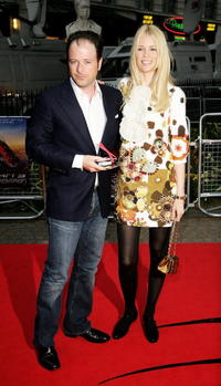 Producer Matthew Vaughn and model Claudia Schiffer at the London premiere of