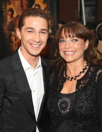 Shia LaBeouf and Karen Allen at the N.Y. premiere of