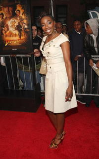 R&B singer Estelle at the N.Y. premiere of