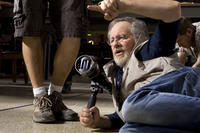 Director Steven Spielberg on the set of