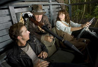 Shia LaBeouf, Harrison Ford and Karen Allen in