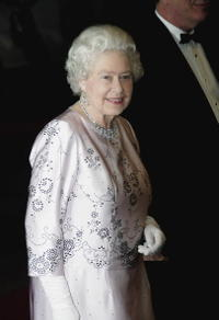 Queen Elizabeth II at the London premiere of