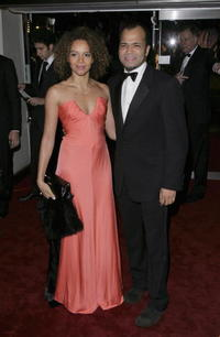 U.S. actor Jeffrey Wright and British actress Carmen Ejogo at the London premiere of
