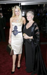 Paris Hilton and Dame Judi Dench at the London premiere of