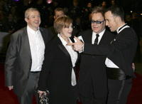 Louis Walsh, Sharon Osbourne, Elton John and David Furnish at the London premiere of