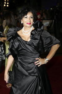 Singer Dame Shirley Bassey at the London premiere of