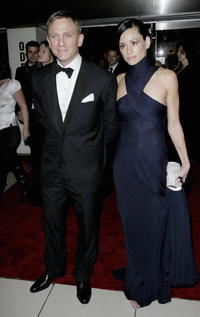 Daniel Craig and Satsuki Mitchell at the London premiere of