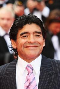 Diego Maradona at the premiere of