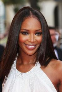 Model Naomi Campbell at the premiere of