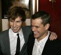 Actors Eddie Redmayne and Matt Damon at the N.Y. premiere of
