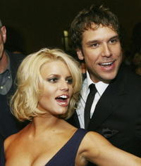 Dane Cook and Jessica Simpson at the afterparty for the Los Angeles premiere of