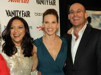Mira Nair, Hilary Swank and producer Ted Waitt at the New York premiere of