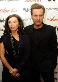 Eve Mavrakis and Ewan McGregor at the New York premiere of
