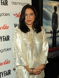 Mira Nair at the New York premiere of