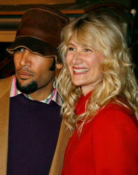 Musician Ben Harper and Laura Dern at the Hollywood premiere of