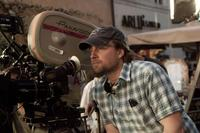 Director Mikael Hafstrom on the set of