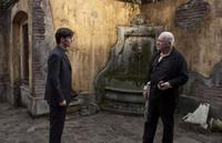Colin O'Donoghue as Michael Kovak and Anthony Hopkins as Father Lucas in