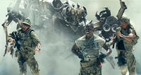 Epps (Tyrese Gibson) runs from Scorponok's attack in